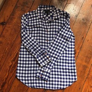 J.Crew Boy fit blue plaid